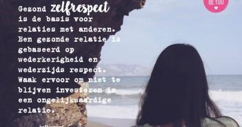 Gezond zelfrespect is de basis voor relaties met anderen