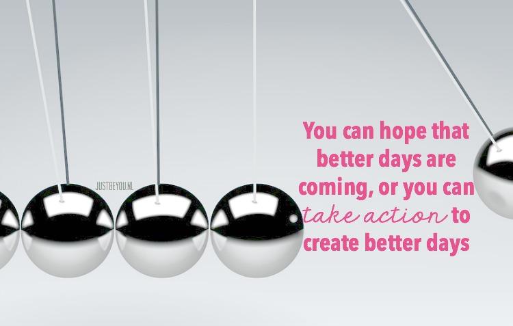 Hoop is een krachtig gevoel, het houdt je op de been.