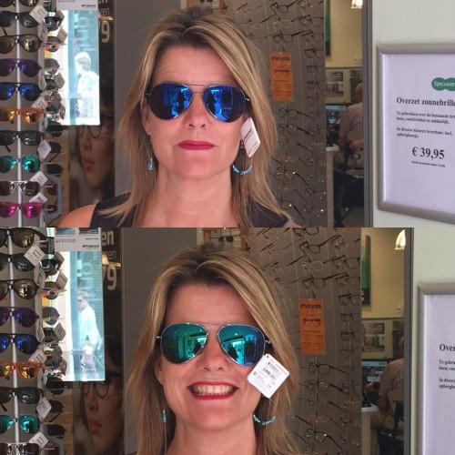 geluksmomenten zonnebril Polaroid