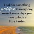 Zoek altijd het positieve