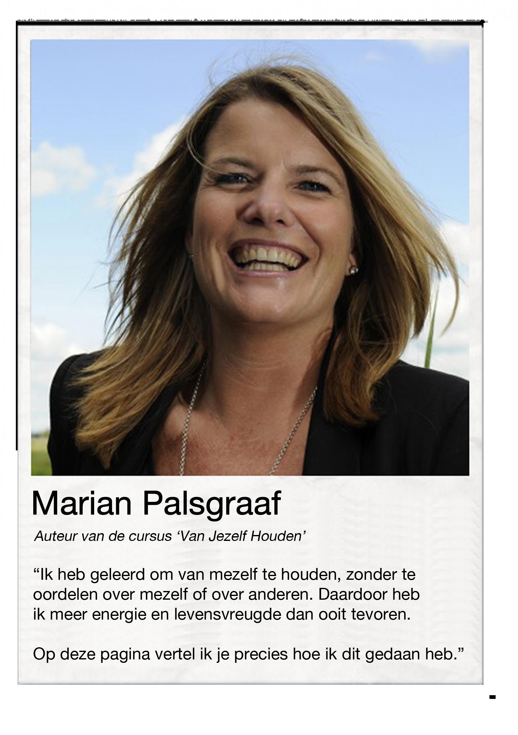 Marian Palsgraaf Van jezelf houden